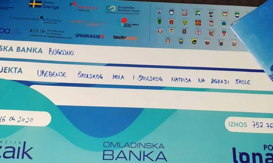 Potpisan ugovor sa Omladinskom bankom za projekat Vijeća učenika naše škole
